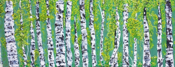 Aspens Cloaked In Green  by Linda Storm