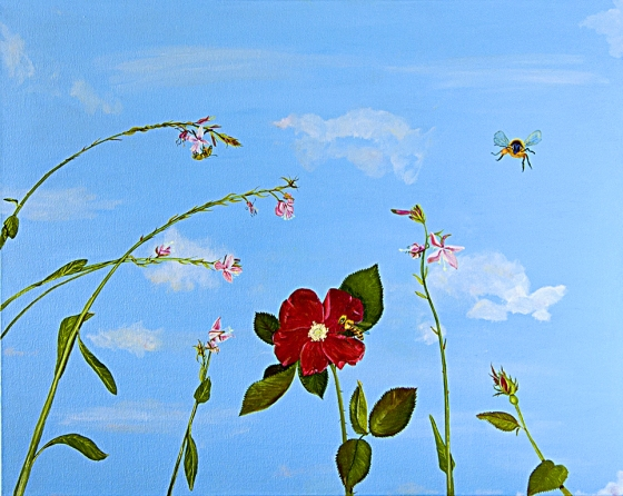 Sex in the Garden, a painting about pollination