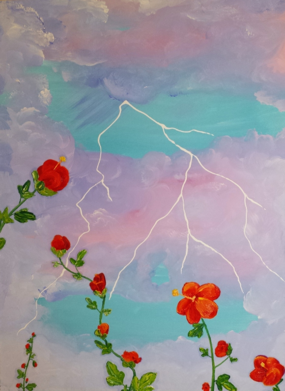 Flowers in the Storm by Linda Storm