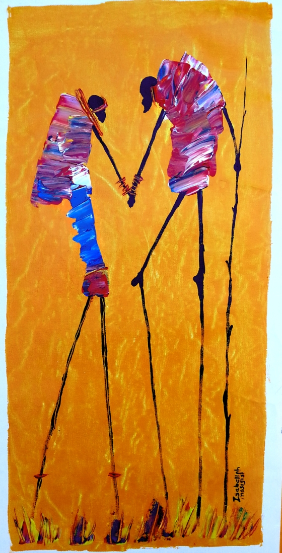 Holding Hands by Isabellah Mosigisi